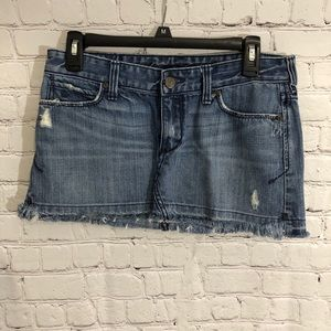 Abercrombie & Fitch distressed denim mini skirt